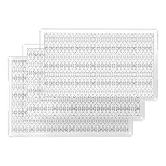Music Nordic Knit Text ASCII Art Black and White Serving Tray