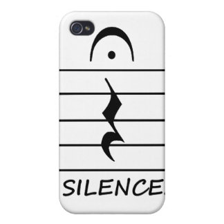 Music Notation Rest with Silence Case For The iPhone 4