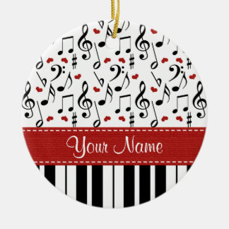 Music Note and Piano Ornament