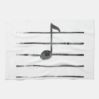 Music Note Art Kitchen Towel