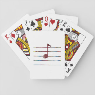 Music Note Art Playing Cards