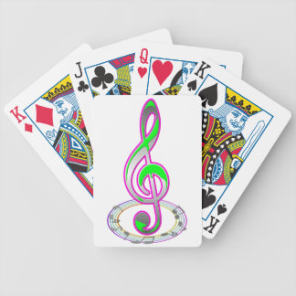 Music Note Bicycle Playing Cards