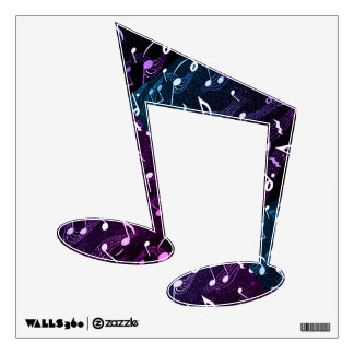 Music Note Black Wall Decal