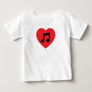 Music Note Heart Baby T-Shirt