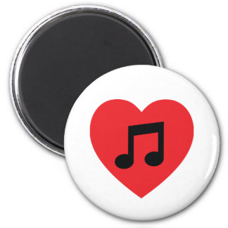 Music Note Heart Fridge Magnet