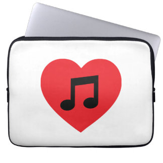Music Note Heart Laptop Sleeve