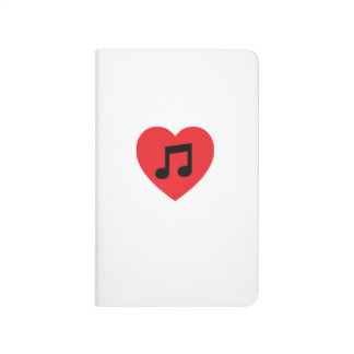 Music Note Heart Pocket Journal