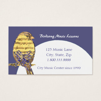 Music Note Lessons Bird Custom Business Card