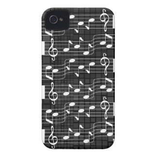 Music Note Mosaic iPhone 4 Case-Mate Case Black