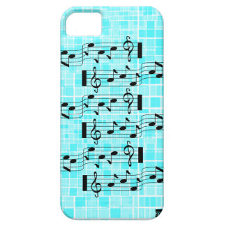 Music Note Mosaic iPhone 5 Case-Mate Case Light Bl