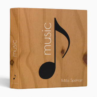 music note on wooden texture, music-lessons vinyl binders
