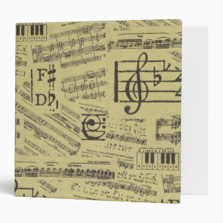 music note Pattern Music Theme Binder