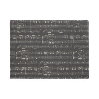 music note Pattern Music Theme Doormat