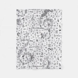 music Note Pattern Music Theme Fleece Blanket