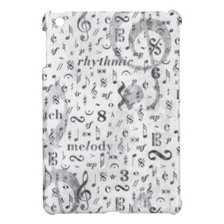 Music Note Pattern Music Theme iPad Mini Cover