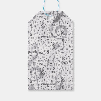Music Note Pattern Music Theme Pack Of Gift Tags