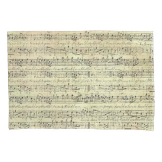 music Note Pattern Music Theme Pillow Case