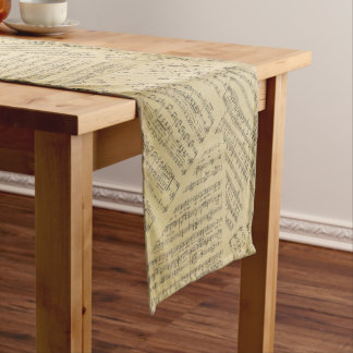 music Note Pattern Music Theme Table Runner