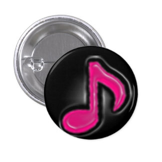 Music Note Pink Ice Button