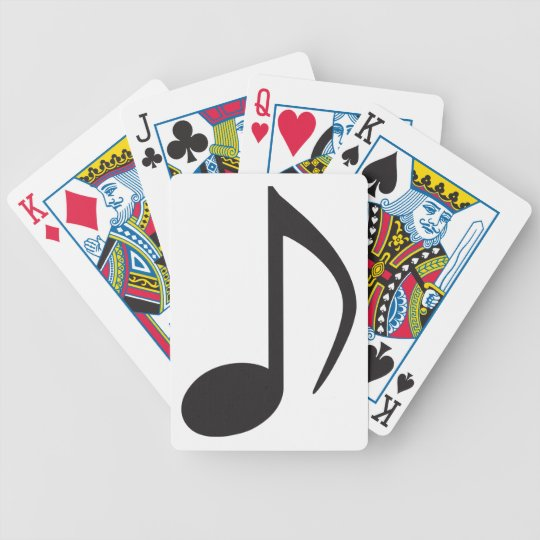 Music note playing cards