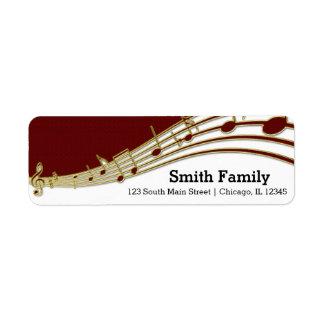 Music note return address label