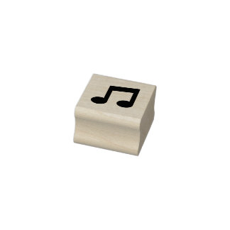 Music Note Rubber Stamp