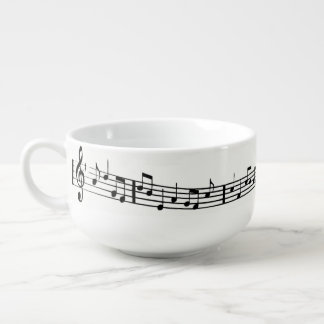 MUSIC NOTE SOUP MUG