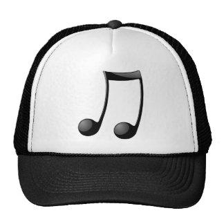 music note symbol trucker hat