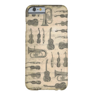 Music Note & Symbol Iphone 6/6s Guitar Tuba Violin Barely There iPhone 6 Case