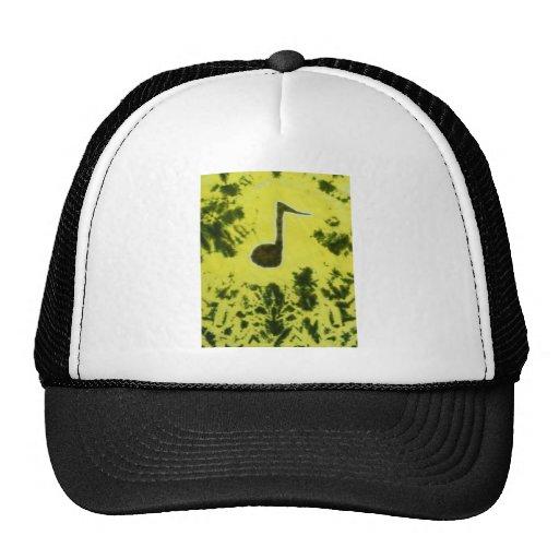 Music Note Tie Dye Mesh Hat