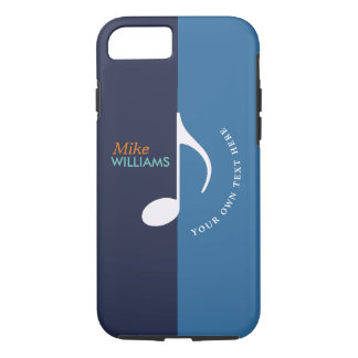 music note ~ two tones of blue cool iPhone 8/7 case