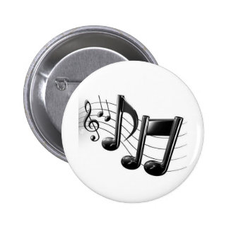 Music Notes 2 Inch Round Button