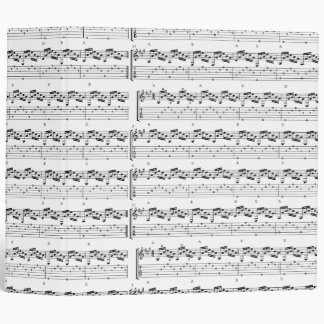 Music Notes 3 Ring Binders