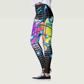 Music Notes Abstract Colorful Leggings