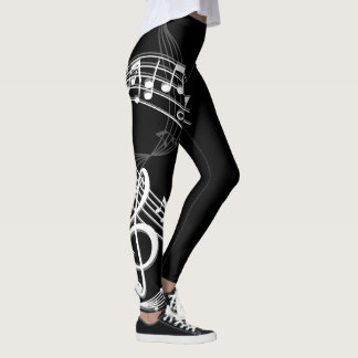 Music Notes Abstract III Leggings
