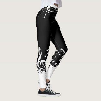 Music Notes Abstract Leggings