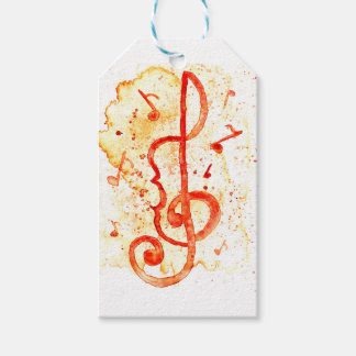 Music Notes Art 2 Pack Of Gift Tags