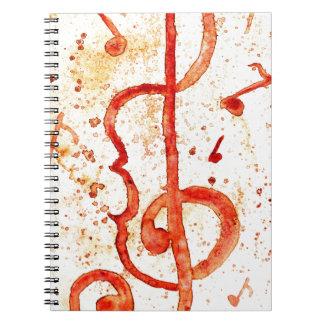 Music Notes Art 2 Spiral Notebook
