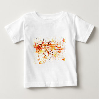 Music Notes Art Baby T-Shirt
