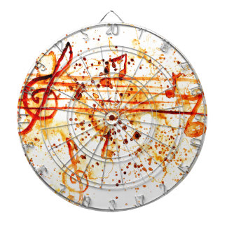 Music Notes Art Dartboard