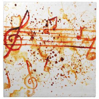 Music Notes Art Napkin