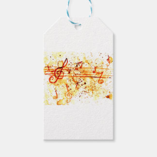 Music Notes Art Pack Of Gift Tags