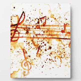 Music Notes Art Plaque