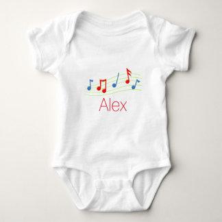 Music notes baby bodysuit