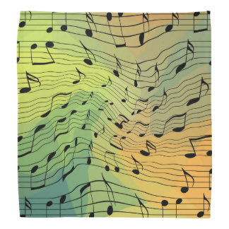 Music notes bandana