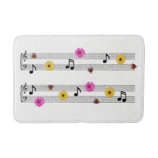 Music Notes Bath Mat