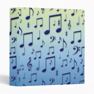 Music notes vinyl binders