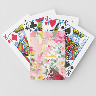 Music Notes, Birds and Flowers Bicycle Playing Cards