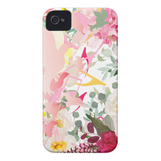 Music Notes, Birds and Flowers Case-Mate iPhone 4 Case