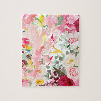 Music Notes, Birds and Flowers Jigsaw Puzzle